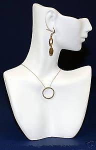 MANNEQUIN PENDANT NECKLACE DISPLAYS JEWELRY BUST