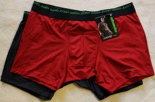 New Men Jockey Sport Performance 2 Pack Boxer Brief Underwear H  Fly