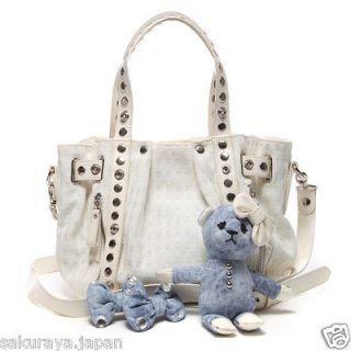 Thavasa Check Bag Shoulder Purse Bear Mascot Japan Christmas Gift F/S