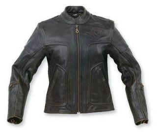 Genuine Kawasaki Womans Vulcan Black Top Leather Jacket L