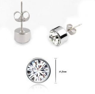 Swarovski Austrian Crystal 18K white gold GP earrings studs