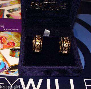 Authentic FREY WILLE GUSTAV KLIMT COLLECTION YELLOW GOLD ENAMEL