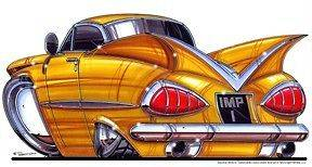 1959 CHEVY IMPALA LICENSED T SHIRT #4903