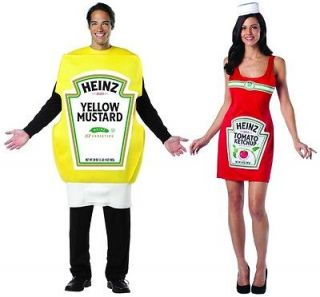 Heinz Ketchup Tank Dress & Squeeze Mustard Bottle Adult Set   4 10