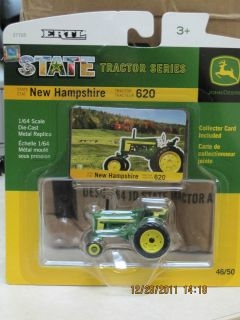 John Deere 1/64 New Hampshire State Model 620 Tractor Toy