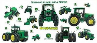 JOHN DEERE Big Removable Wall Decals FARM TRACTOR BOYS Room Decor