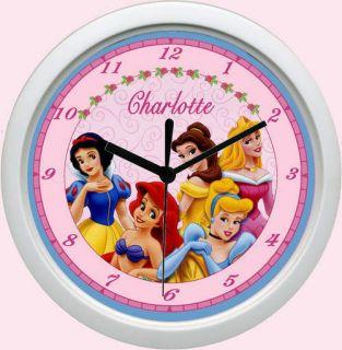 Personalized Princess Cinderella Ariel Aurora Clock