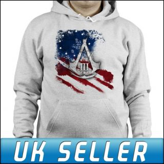 Assassins Creed 3 Join or Die Hoody Hoody Hood Jumper Top Mens Womens