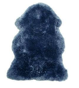Navy Blue Motorcycle Merino Sheepskin Seat Cushion PAD New High