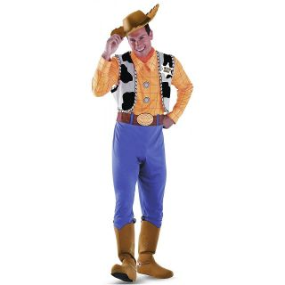 Deluxe Woody Toy Story Adult Mens Disney Cowboy Halloween Costume Std