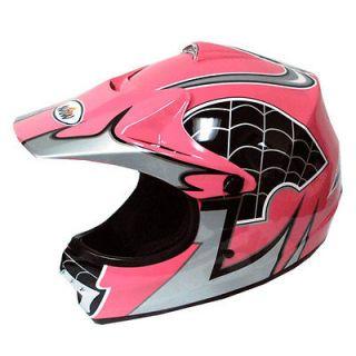 New Youth Kids Motocross Motorcross MX BMX Bike Helmet Spider Pink S M