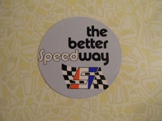 NOS Speedway Decal mini bike snowmobile RARE!