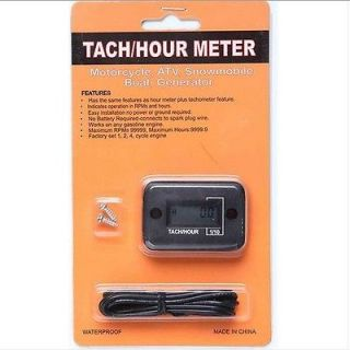 LCD 2 cycle stroke engine Motorcycle ATV Pit Bike Quad Tach Hour Meter