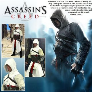 Altair   Over Tunic & Hood Assassins Creed Re enactment