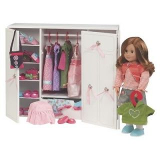 Dresser Trunk Wardrobe Made to Fit 18 Inch American Girl Doll