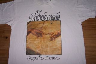 Michel Angelo Cappella Sistina White XLarge T Shirt