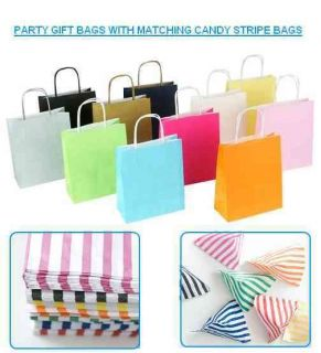 Party Paper Gift Bags & Candy Striped Bags   Wedding Favours