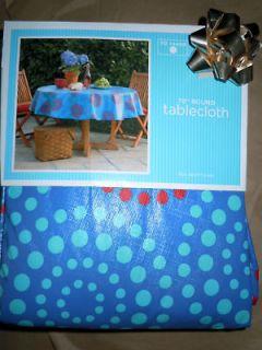 polka dot vinyl tablecloth