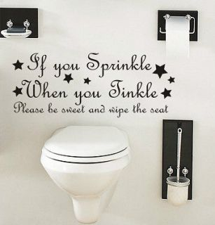 FUNNY QUOTE KITCHEN WALL ART DECAL STICKER VINYL BATHROOM TOILET