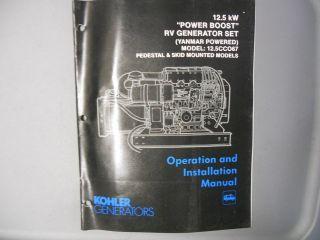 Kohler Generator Operation Installation Manual 12.5 Power Boost