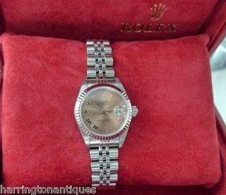 ladies rose gold rolex in Wristwatches