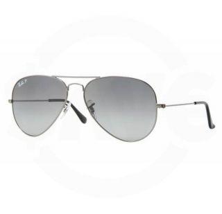Ban 3025 004/78 Gunmetal Aviator Large Metal Polarized Sunglasses 55mm