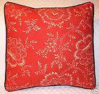 Pillow made w Ralph Lauren Cold Spring Red Floral Fabric 16x16 trim