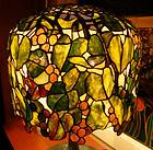 Tiffany Reproduction Stained Glass Lamp Shade Green Geometric 22W Blue