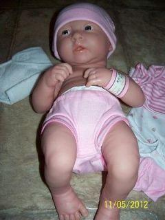 BERENGUER LA NEWBORN 14 GIRL REBORN REAL LIFELIKE BABY DOLL W/EXTRAS