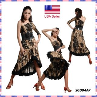 SGD04AP (S XL) New Women Ballroom Latin Rhythm Salsa Swing Dance Dress