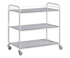 New Medical Laundry kitchen trolley cart 3 trays stainless steel