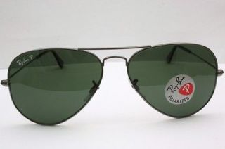 New Ray Ban Sunglasses Aviator Large Metal Green Polarized RB3025 004