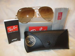 Ray Ban RB3025 Aviator Large Metal 001/51 Gold/Brown Shaded 58mm clear