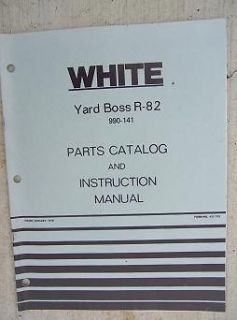 1978 White Yard Boss R 82 Manual Parts Catalog Power Riding Lawn Mower