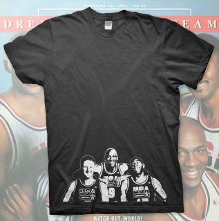 High Quality T Shirt   Magic Johnson Larry Bird Michael Jordan 1991