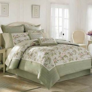 Laura Ashley Avery Lavender Purple Green Floral Queen