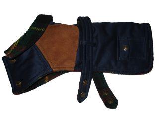 Polo Ralph Lauren Plaid Blue Dog Jacket Sweater Coat S