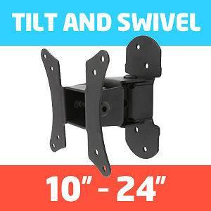 PLASMA LCD LED SLIM TV TILT SWIVEL WALL MOUNT BRACKET 15 17 19 22 24