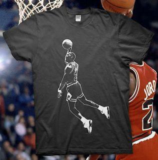 JORDAN   High Quality Cotton T Shirt   NBA BULLS Slam Dunk 23 ALL STAR