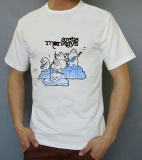 READ DESCRIPTION$ THE ARCTIC MONKEYS White T Shirt S M L XL 2XL Sizes