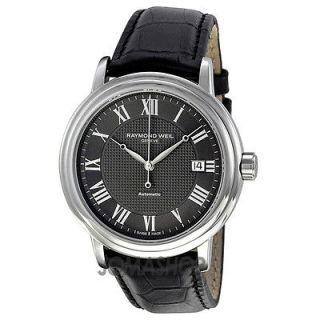 Raymond Weil Maestro Automatic Leather Strap Mens Watch 2837 STC 00609