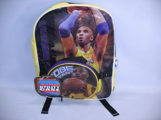Angeles Lakers Kobe Bryant NBA Backpack w/ Lunch Box F.A.B Starpoint