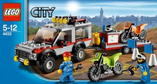 LEGO 4433 CITY SERIES DIRT BIKE TRANSPORTER BUILDING BLOCK TOY PLAYSET