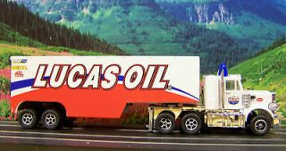 New Lucas Oil Peterbilt 359 Racing Rigs Semi w Trailer ho slot car
