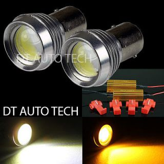 DUAL COLOR SWITCHBACK HIGH POWER LED SIGNAL LIGHT BULBS+LOAD RESISTOR