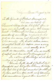 LYNN MASSACHUSETTS CIVIL WAR SOLDIER DIES SPOTTSYLVANIA LETTER 1864