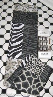 PRINT Zuma ZEBRA leopard Fabric Shower Curtain CHEETAH BLACK BROWN