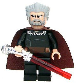 LEGO Star Wars Clone Wars LOOSE Mini Figure Count Dooku with Silver