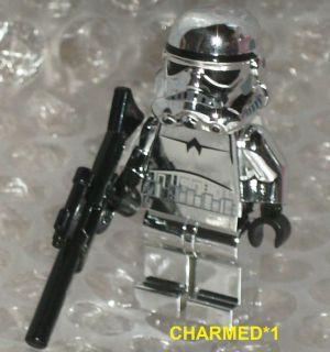 Star Wars Lego Mini Figure Silver / Chrome Stormtrooper NEW * Rare *
