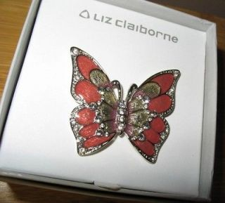 Liz Claiborne Butterfly brooch/pin (new in box)